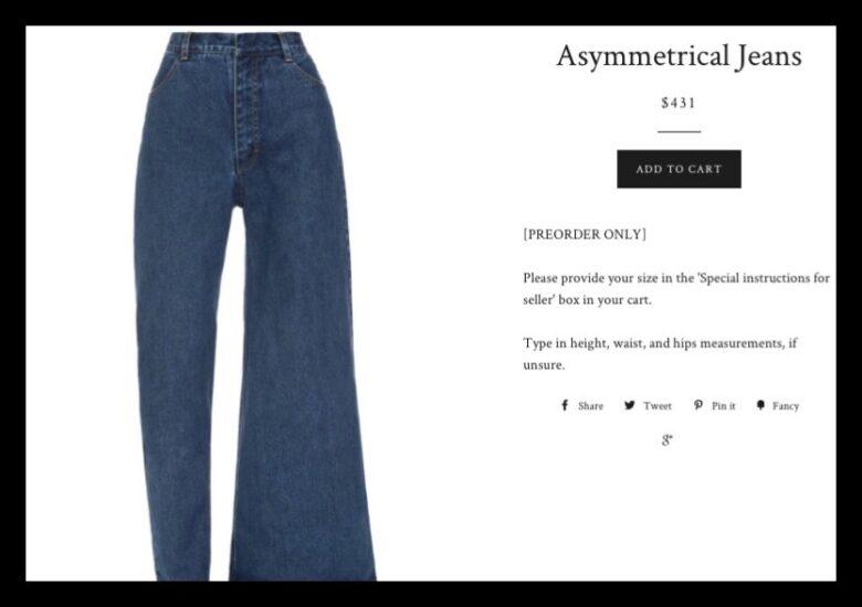 ジーンズに非対称モデル!?ブランドはどこ?デニムとの違いは?